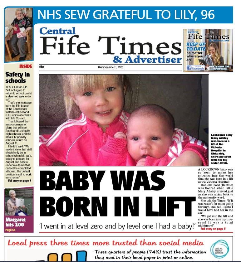 Inside tomorrow's Central Fife Times