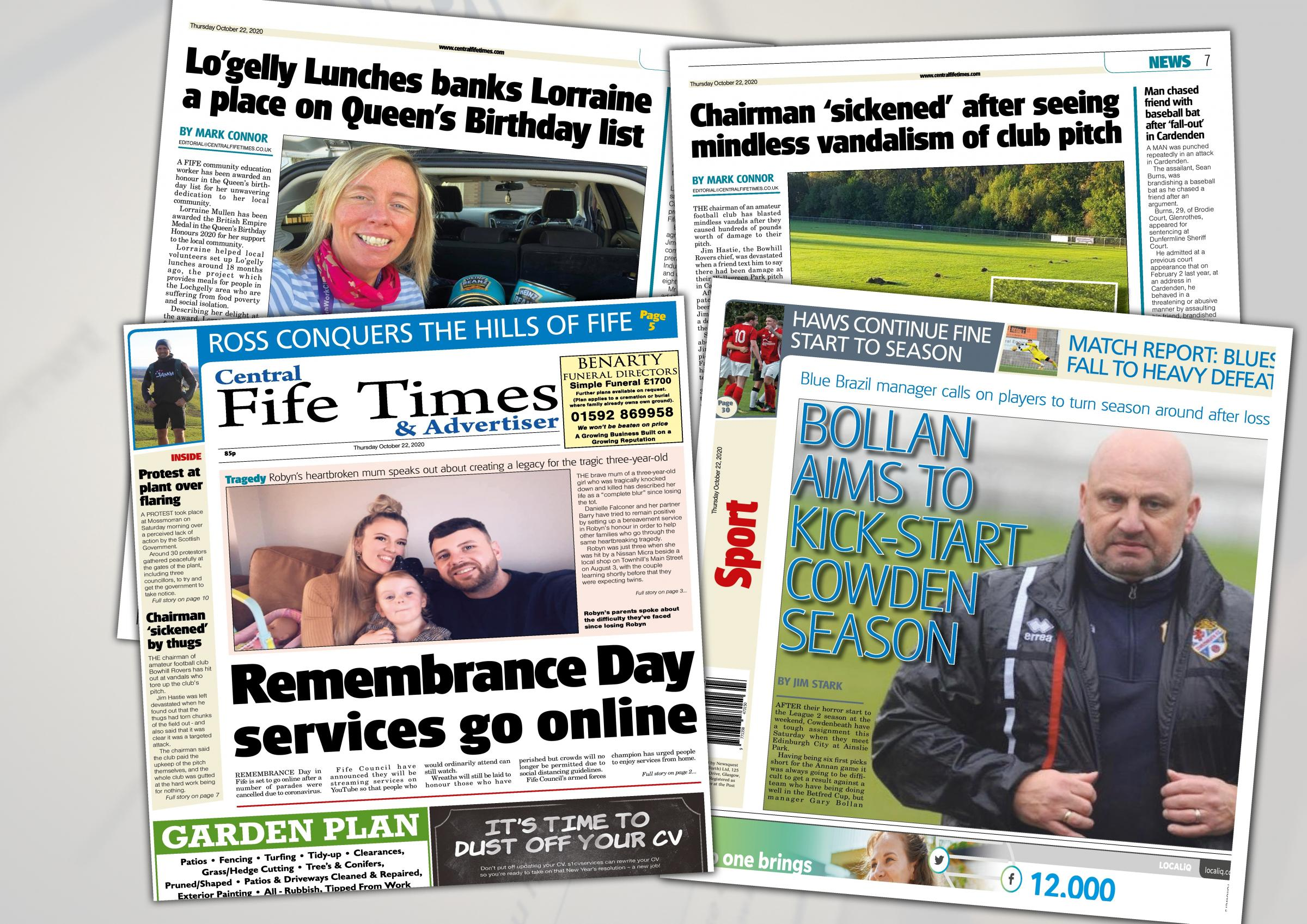 This week's Central Fife Times: October 22