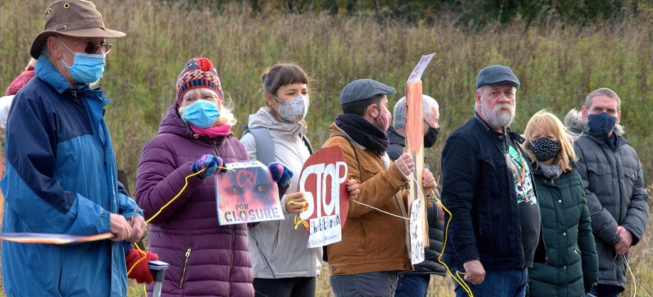 Mossmorran protest held after recent flaring