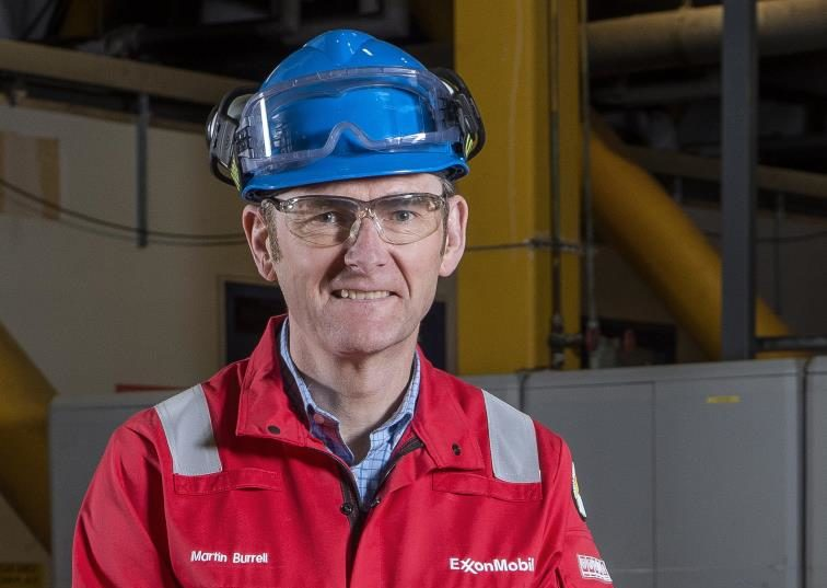New plant manager Martin Burrell at Mossmorran.