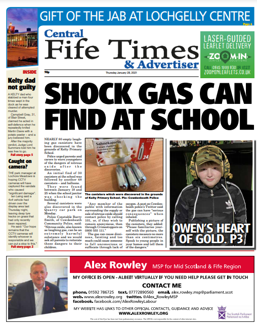 Central Fife Times: Here's what making the news this week