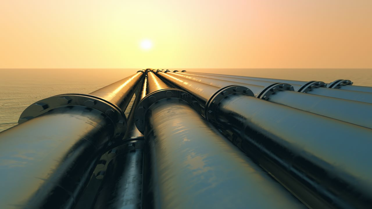The 362km-long Frigg UK Pipeline transports gas from the Captain field to the onshore St Fergus gas terminal. Credit: Dabarti CGI / Shutterstock.
