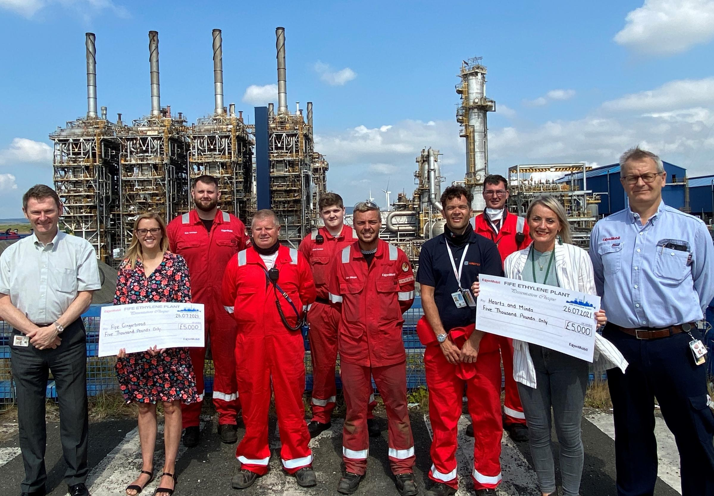 Mossmorran: Thousands of pounds raised for charity by plant staff