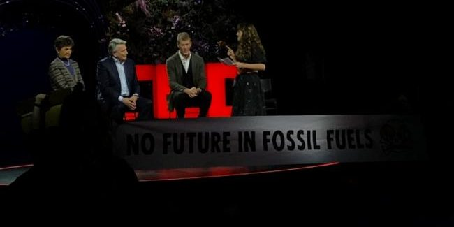 Youth Activists Confront Shell CEO At TED Talk